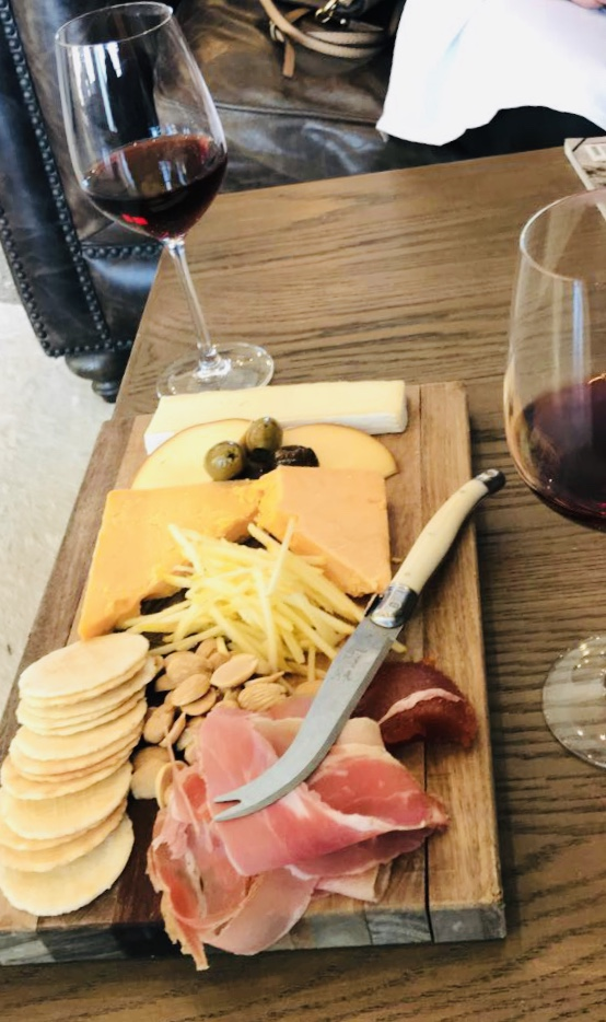 wine cheese tray